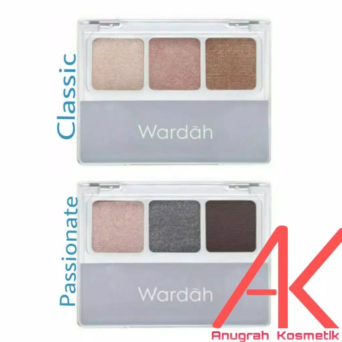 Wardah Nude Colours Eyeshadow Classic/Passionate 3,3gr