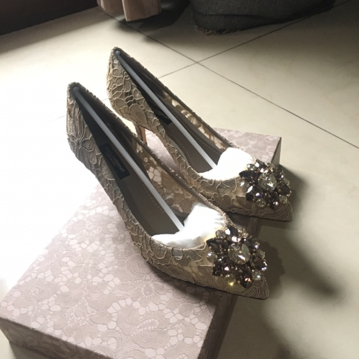 88b385e9818 Jual Dolce Gabbana Bellucci Kitten Heels in Sand - Branded Luxury ...