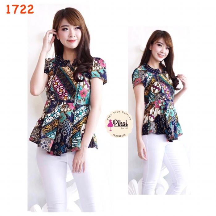 Jual Batik wanita peplum   baju batik modern kantor murah   atasan ... 320a64e8ea