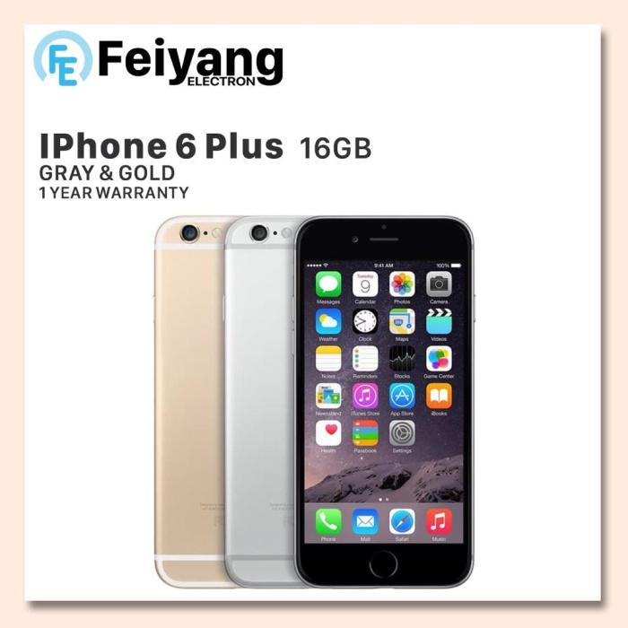 APPLE IPHONE 6S PLUS 16GB FU GSM GARANSI DISTRIBUTOR PLATINUM 1 TAHUN - GREY 0451500545