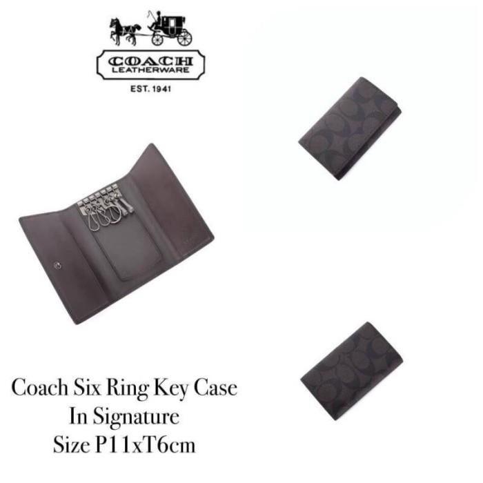b2b5f17631 Jual Coach Six Ring Key Case in Signature - DKI Jakarta - Kiplingindo    Tokopedia
