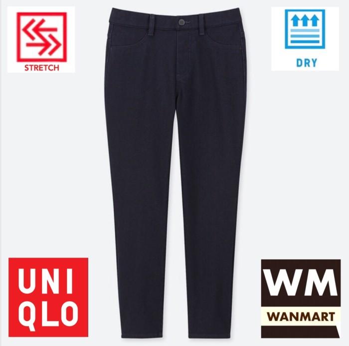 Jual Uniqlo Women Pants Celana Legging Crop Wanita Ultra Stretch Denim Navy Kota Depok Wan Mart Tokopedia