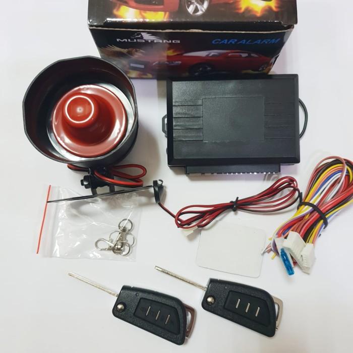 Alarm set mobil kunci mustang kunci lipat premium