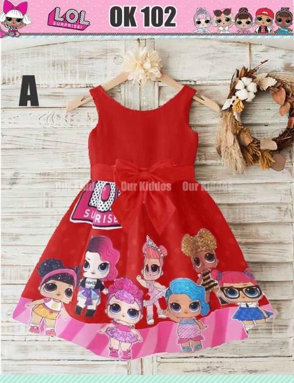 46 Contoh Baju Dress Anak Lol Terbaru