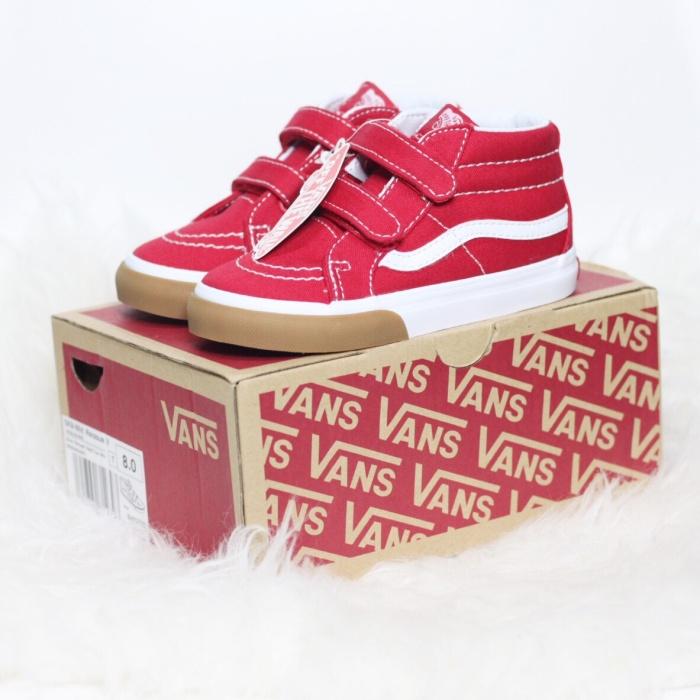 6e2ee2cca8 Jual Vans Toddler Sk8 - Mid Reissue Velcro Gum Bumper Red True White ...