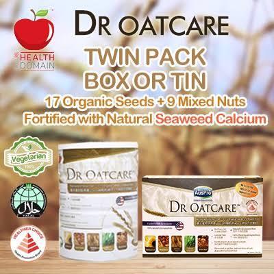 Dr. Oatcare Twin Pack (Kaleng 850 grm dan Box 30 sachet)