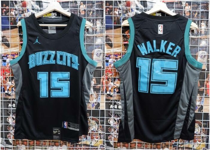 b5592939c68 ... coupon code for jersey basket nba buzz city city edition hitam kemba  walker 2018 2019 61f98