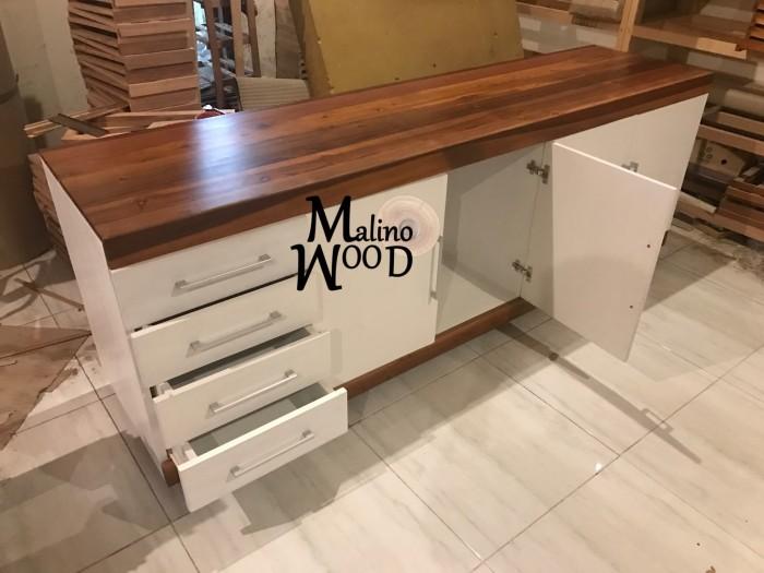 Jual Kitchen Set Custom Kayu Solid - Kota Surabaya - Malino Wood | Tokopedia