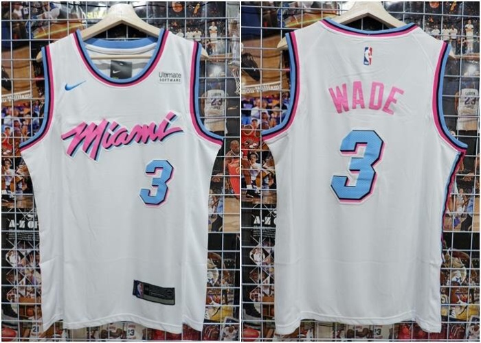sale retailer 2a3f8 e178c Jual Jersey Basket Swingman Miami Heat Wade #3 City Edition Putih 17/18 -  Kota Batam - RR7 Shop | Tokopedia