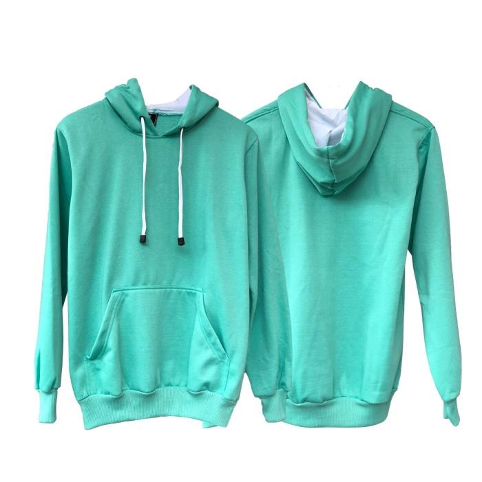 Jual Jaket Sweater Polos Hoodie Jumper Hijau Mint - Premium Quality ... 09f3aa1e94