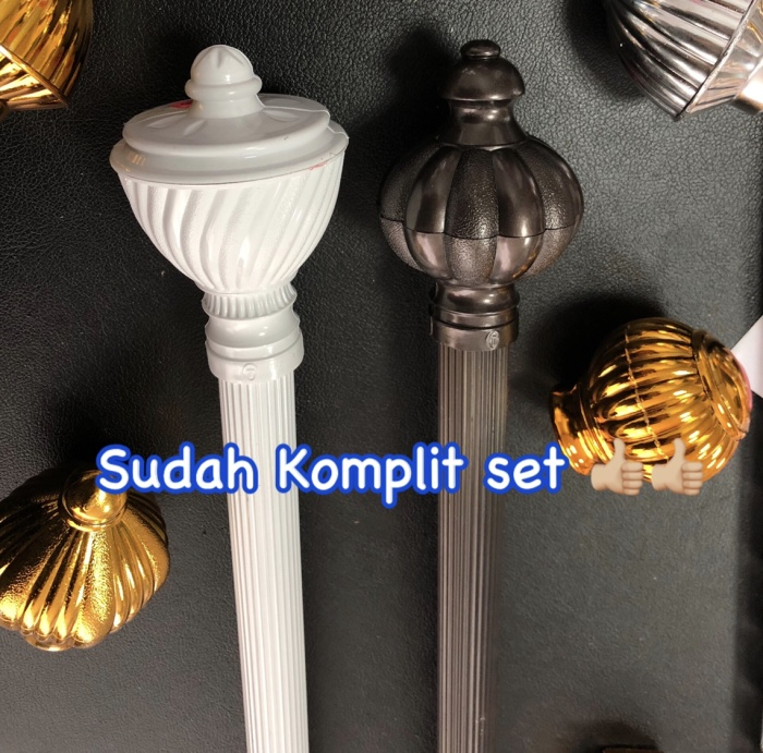 Foto Produk Rel gorden rollet / tiang gordeng / rel gordyn / batang gorden - COKLAT dari Princess Gordenn