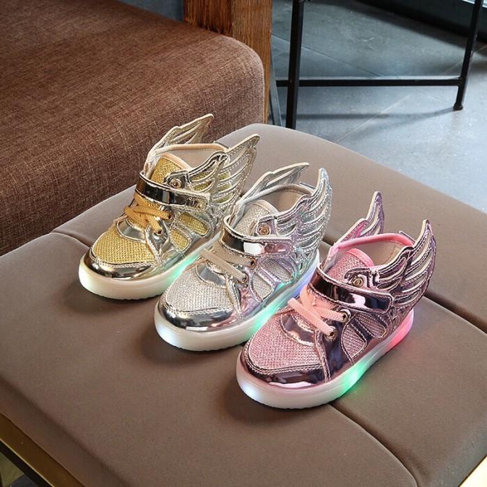 Jual sepatu anak flat sneakers unicorn blink perempuan led warna ... de4a534da1