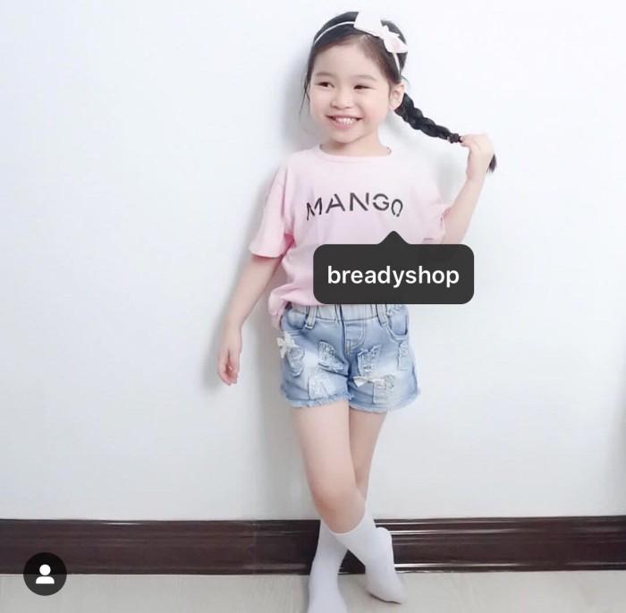 6563e231 Tumblr Tee / T-Shirt / Kaos Anak Kids Mango Warna Pink Abu Mustard Nav -  4-5 tahun, Hijau