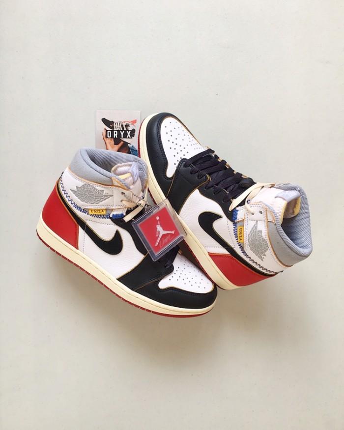 c35220e4d92e Jual Nike Air Jordan 1 Retro High Union Los Angeles Black Toe - Kota ...