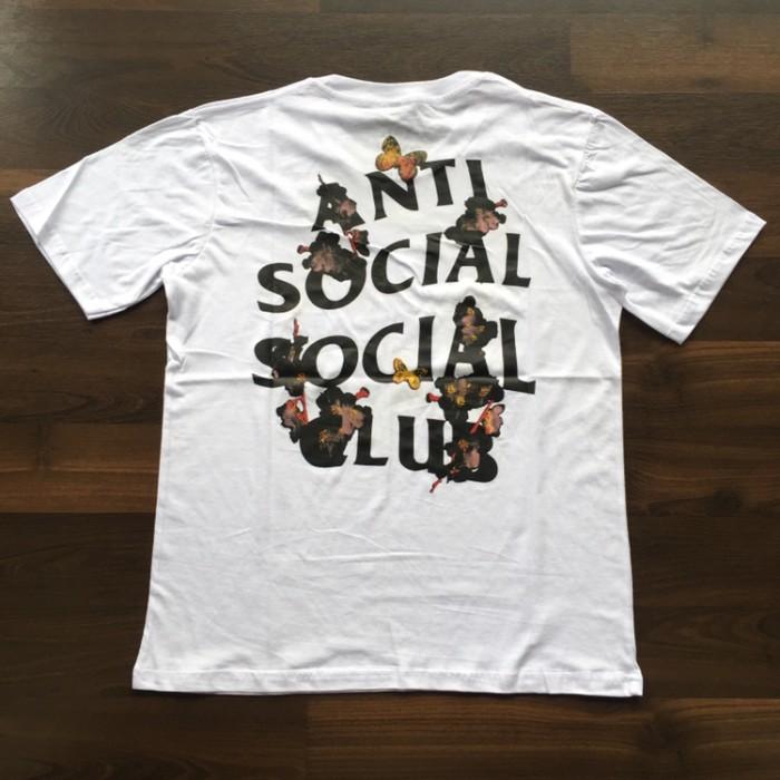 1e49b8632031 KAOS   BAJU   TSHIRT ASSC ANTI SOCIAL SOCIAL CLUB PUTIH BUTTERFLY PREM