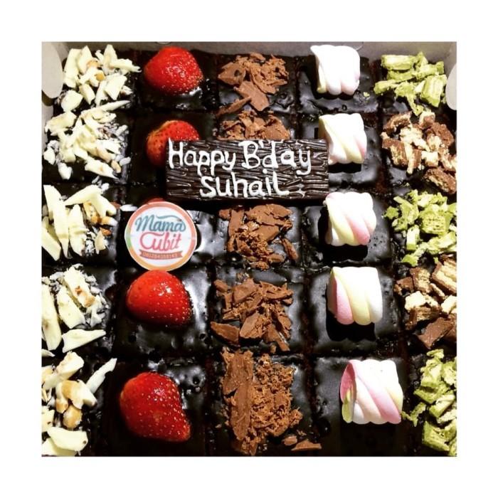 Fantastic Jual Brownies Kue Ulang Tahun Kue Potong Brownies Hias Birthday Funny Birthday Cards Online Elaedamsfinfo