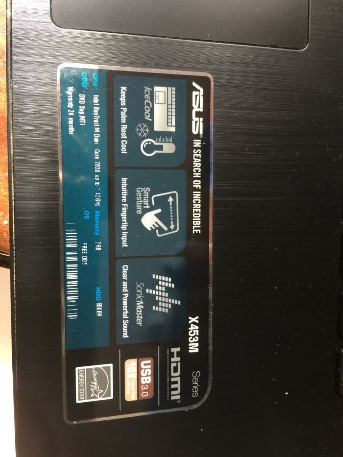 harga Laptop Asus X453M Second Tokopedia.com