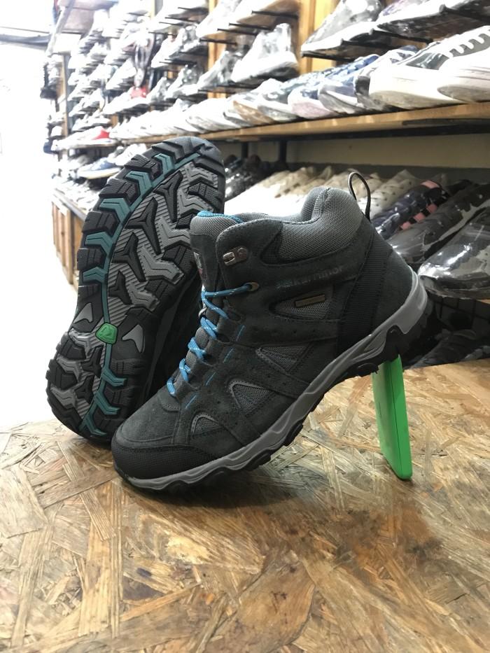 Sepatu KARRIMOR MOUNT MID Hiking Grey Teal Original Made in Indonesia 3ce60c4ce1