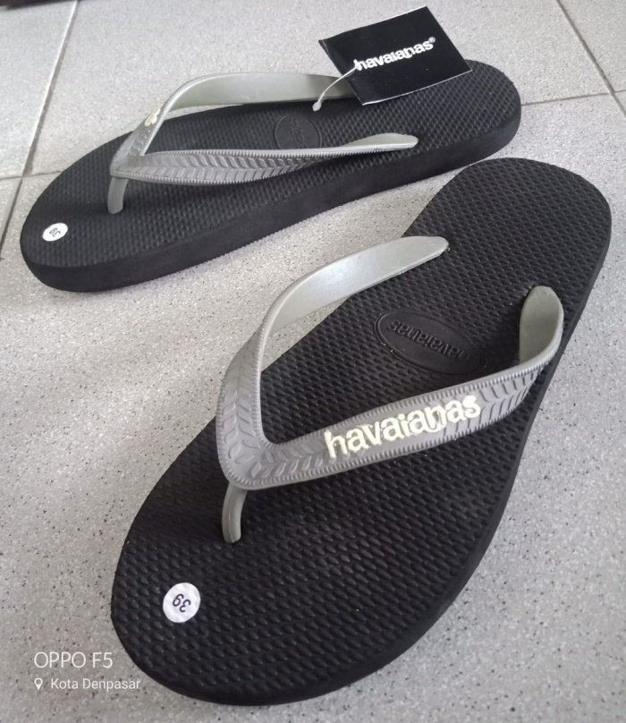 ac0a44b2e Jual Sandal Jepit Havaianas Black Grey Name White - Kota Denpasar ...