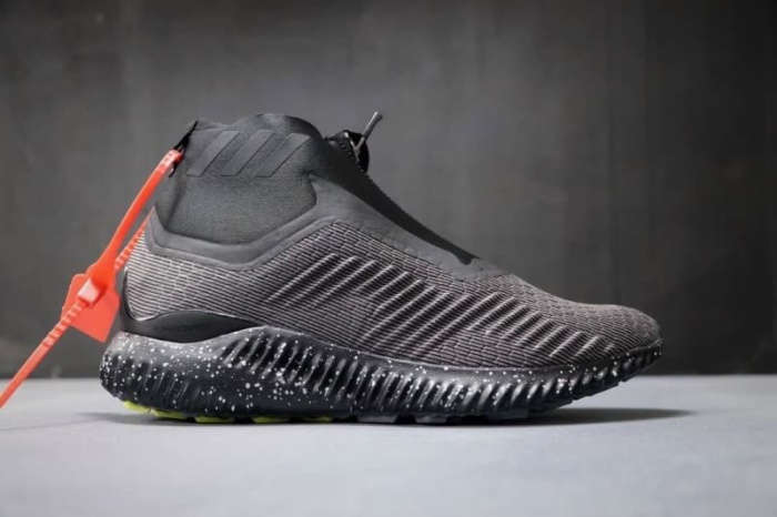 "71eb7d17d Jual Adidas - Alphabounce zip ""Dark grey Black"" - Kicksteps"