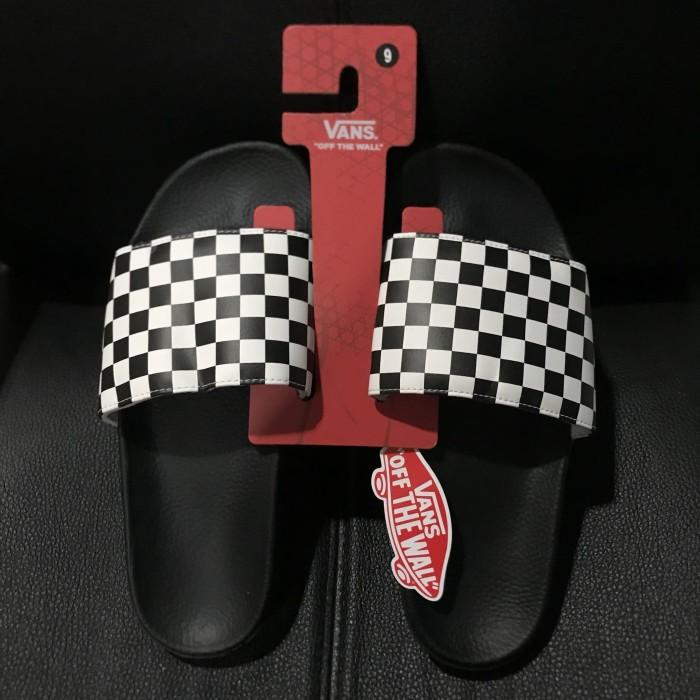 0cae574c0f16  100% ORIGINAL  Sandal Vans Checkerboard Checkboard Sliders Slider - Hitam