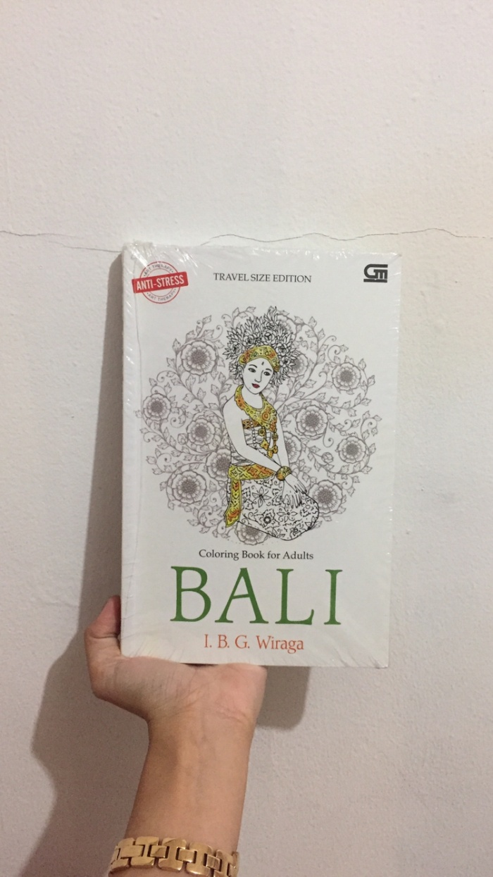 "Jual Buku Mewarnai Coloring Book For Adults ""Bali"" By I B G Wiraga Kab Bogor Prettydiamond"