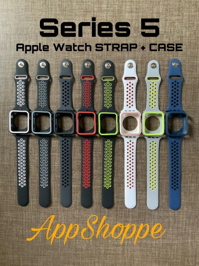 Foto Produk Apple Watch Strap Series 5 Nike Design BUMPER + STRAP Wristband 44mm dari AppShoppe