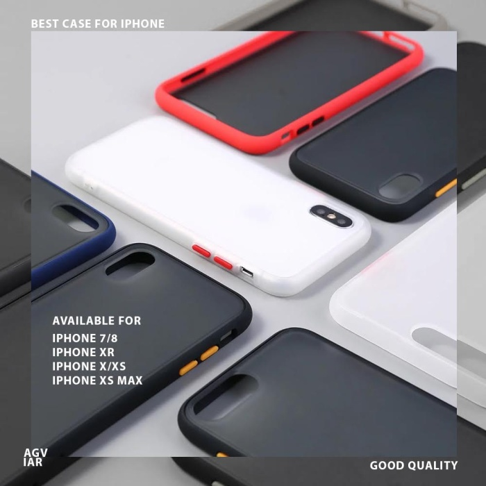 Foto Produk Contrast Color Case iPhone 7 / 8 / X / XS / XR / XS MAX dari agviar