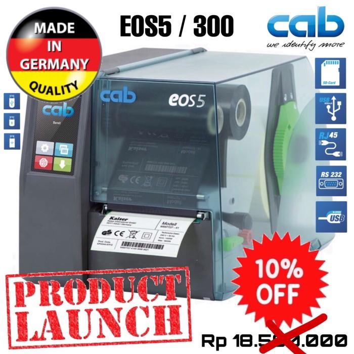 harga Cab eos 5/300 thermal transfer ribbon barcode label printer-300 dpi Tokopedia.com