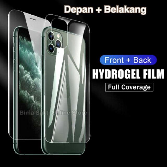 Foto Produk Iphone 11 Pro Max Anti Gores Screen Protector Hydrogel Depan Belakang dari bima sakti online store