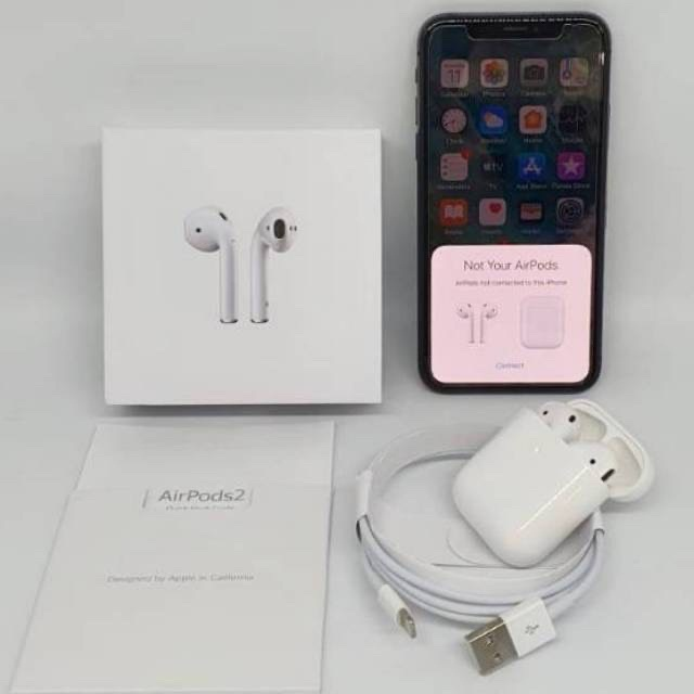 Foto Produk Airpods apple iphone clone gen 2 1:1 oem wireless charging earphone he dari Gadgethaul