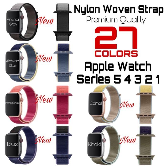 Foto Produk Apple Watch Series 5 Nylon Woven Strap Band Sport Loop iWatch dari AppShoppe
