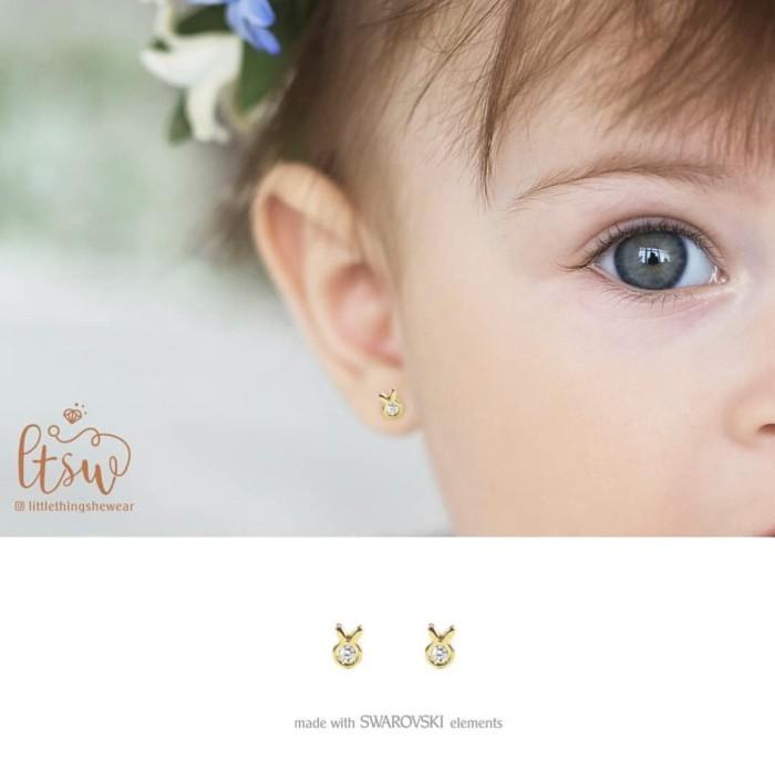 Foto Produk Anting Anak Littlethingshewear Bunny Swarovski Toddler dari littlethingshewearmalang