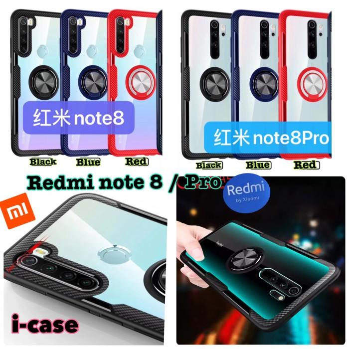 Foto Produk Case Xiaomi Redmi Note 8 / Redmi Note 8 Pro Hybrid Ring Stand Clear dari i-case