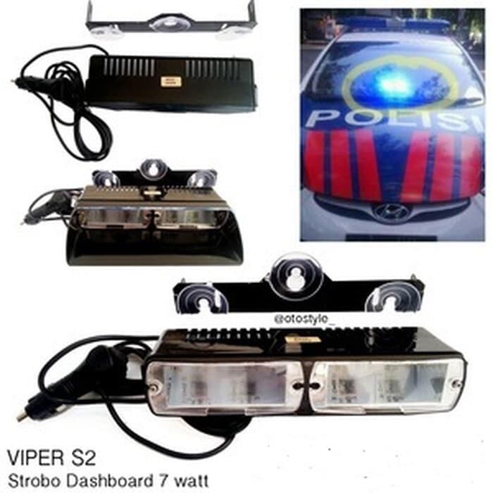 Foto Produk Federal Signal Viper S2 Dashboard Strobo Light 18 Mode 16W Ori - biru biru dari VapoJKT