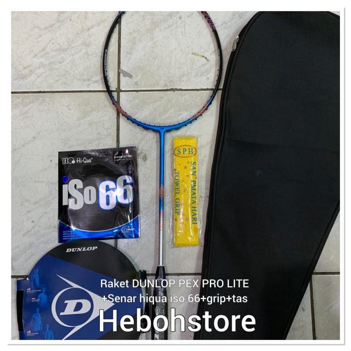 Foto Produk Raket Badminton DUNLOP APEX PRO LITE +SENAR HIQUA ISO 66 +GRIP+TAS ORI dari Hebohstore