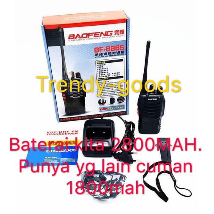 Foto Produk BAO FENG Radio HT 888S (Hand Talky) BAOFENG BF-888S + HEADSET 2800MAH dari TRENDY-GOODS