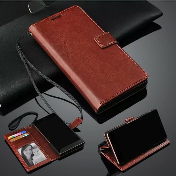 Foto Produk Leather Case Flip Wallet Oppo A5 2020 / A9 2020 Flip Cover dari abadi8888