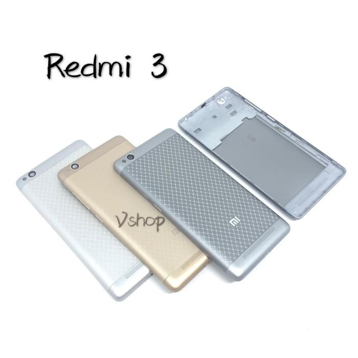 Foto Produk Backdoor Xiaomi Redmi 3 Gold/Abu abu - Grey dari vshop sparepart