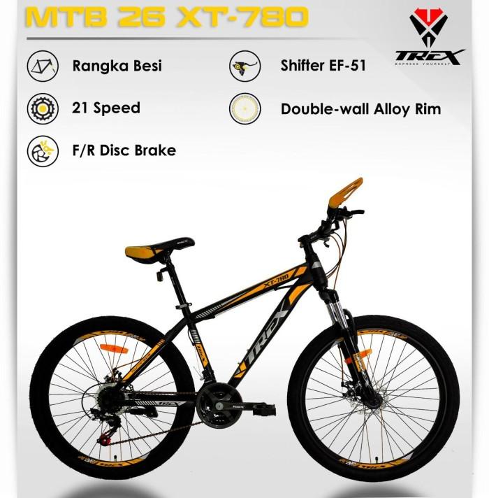 Jual Sepeda Gunung MTB 26 TREX XT 780 21Speed Kota