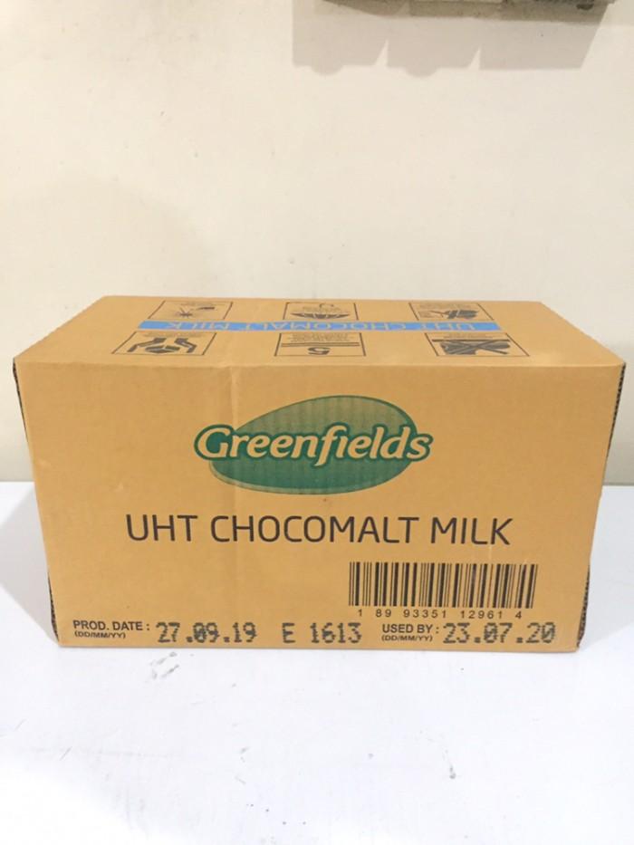 Foto Produk Susu UHT Greenfields Coklat 1L - KARTONAN GRAB GOJEK ONLY dari Kalimantan Toko