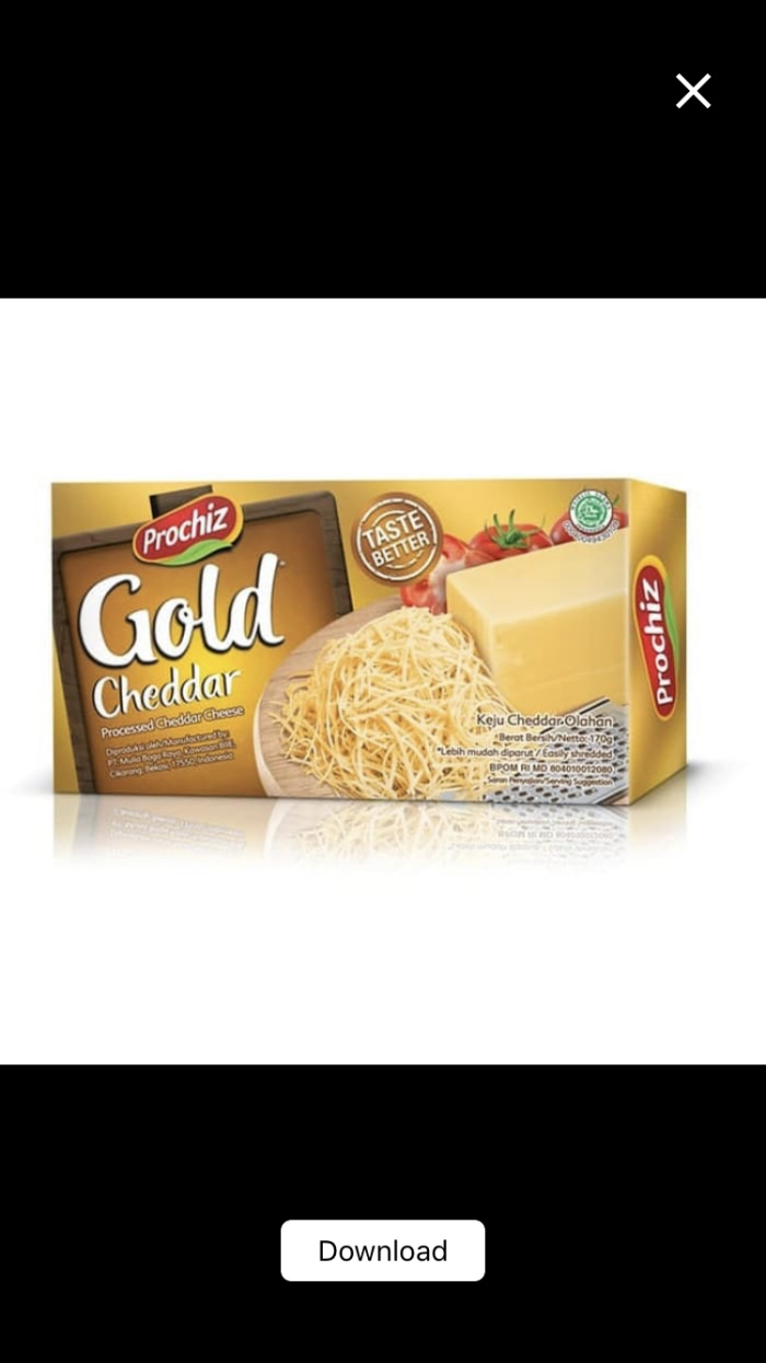 Foto Produk Keju Prochiz Gold Cheddar Kotak 170g 170gr - Parut Balok Murah dari Ben Motoshop
