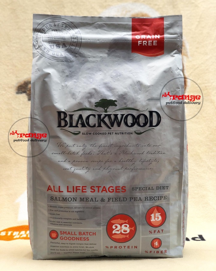 Foto Produk blackwood grain free salmon all life stages ( puppy to adult ) 13,6 kg dari orange petfood delivery
