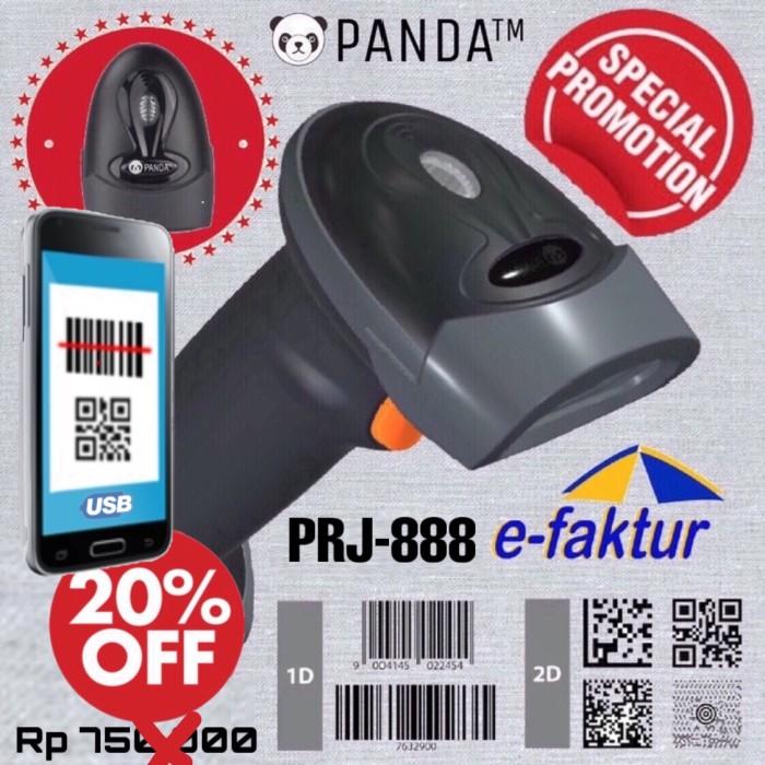 Foto Produk BARCODE SCANNER E-FAKTUR 2D/1D PANDA PRJ-888 (QR CODE-EFAKTUR-AZTEC) dari PANDA RETAIL SOLUTIONS