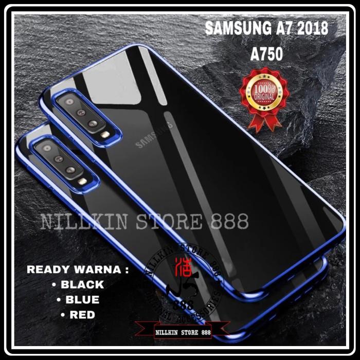Foto Produk SAMSUNG GALAXY A7 2018 A750 PLATING LIST COLOR SOFT CASE TRANSPARAN dari Nillkin Store 888
