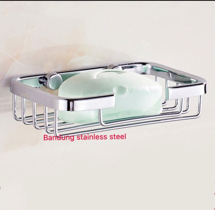 Foto Produk tempat rak sabun sudut kecil stainless steel kamar mandi dari Bandung Pets Lovers
