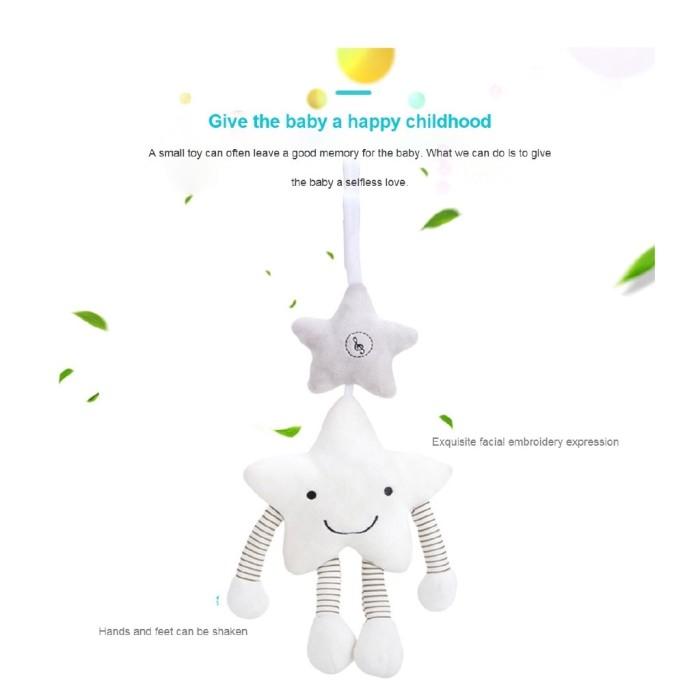 Foto Produk Baby Rattle Mainan Stroller Toy Musical Mobile Toys Cute Cartoon Star dari Honee Gifts
