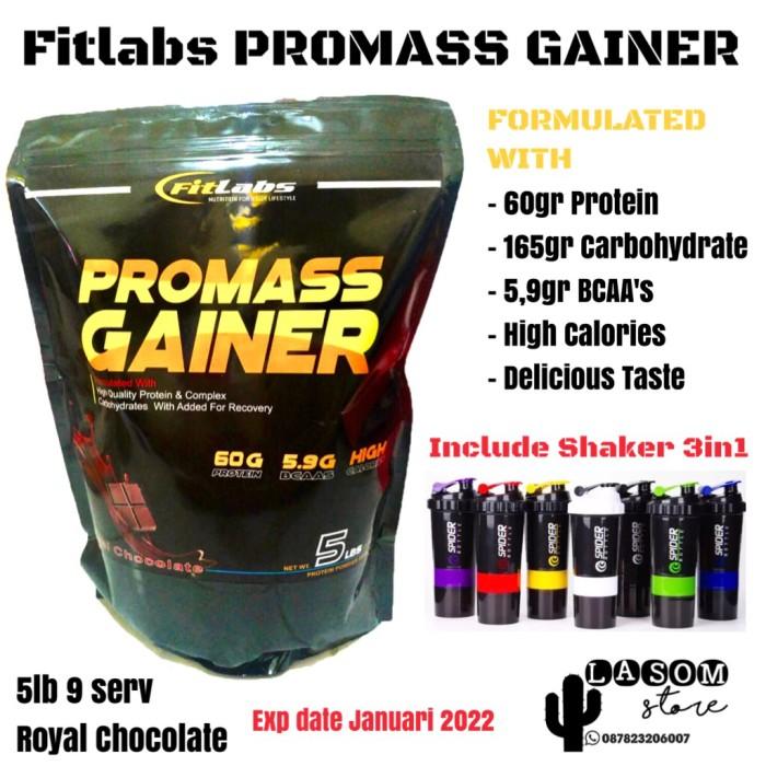 Foto Produk Fitlabs Pro Mass Gainer Penambah Berat Badan MassaOtot Fitness Gym 5lb dari LASOM store