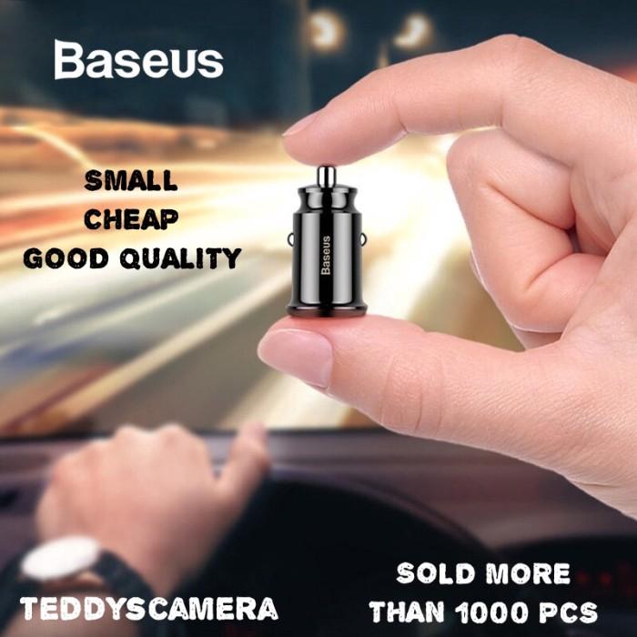 Foto Produk BASEUS CAR CHARGER DUAL PORT CHARGER MOBIL SAVER FAST CHARGING 3.1A dari teddyscamera