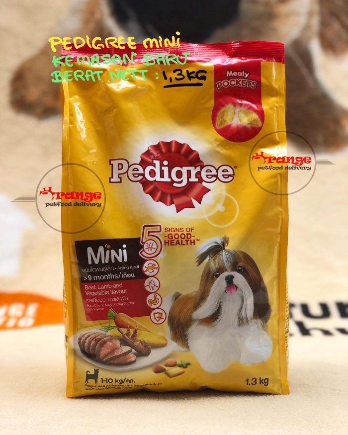 Foto Produk pedigree small breed beef,lamb and vegetable flavour 1,5 kg dogfood dari orange petfood delivery